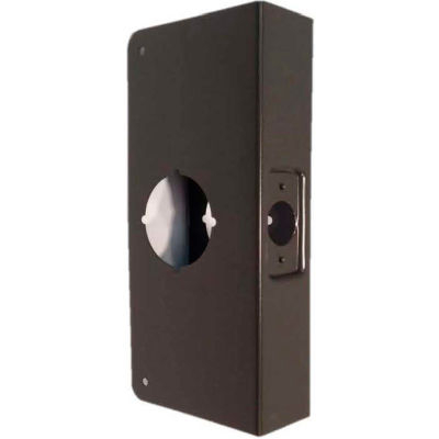 "Don Jo 1-CW-10B Wrap Around For Cylinder Door Locks 2-1/8""Hole, 4""x9"", Oil Rubbed Bronze - Pkg Qty 10"