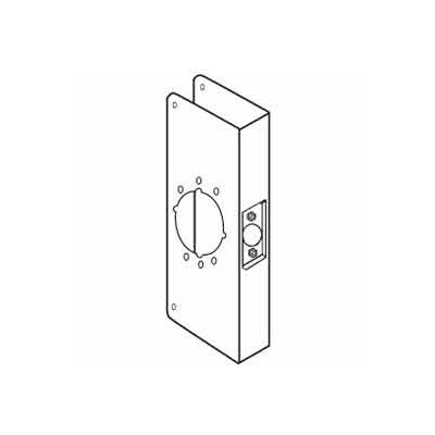 """Don Jo 12-2-CW-10B Wrap Around For Cylinder Door Locks, 4-3/4""""x12"""", Oil Rubbed Bronze"""