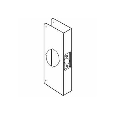 "Don Jo 12-CW-PB Wrap Around For Cylinder Door Locks, 4-1/4""x12"", Polish Brass"
