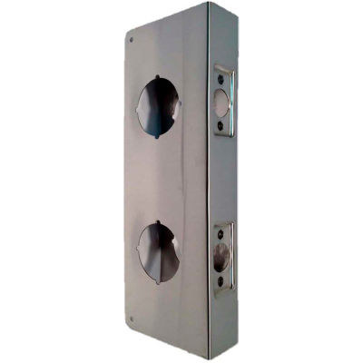 "Don Jo 151-CW-S Wrap Around For Dbl Lk Combo Locksets W/ 2-1/8""Holes, 2-3/8""Backset, SS - Pkg Qty 10"