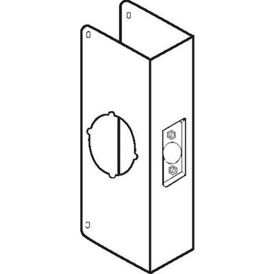 """Don Jo 200C-S-CW Wrap Around For Thicker Doors, 4-1/4""""x9"""", 2-3/8""""Backset, Stainless Steel"""
