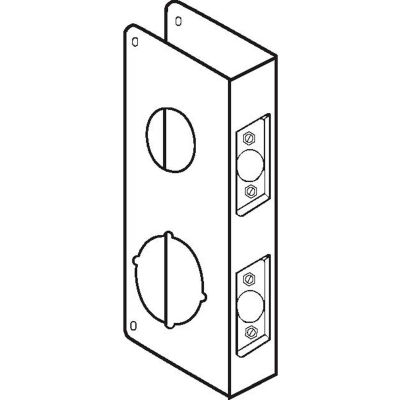 """Don Jo 264-CW-S Wrap Around For Dbl Lk Combo Locksets W/ 1-1/2""""Top Hole&2-1/8""""Bottom Hole, SS - Pkg Qty 10"""