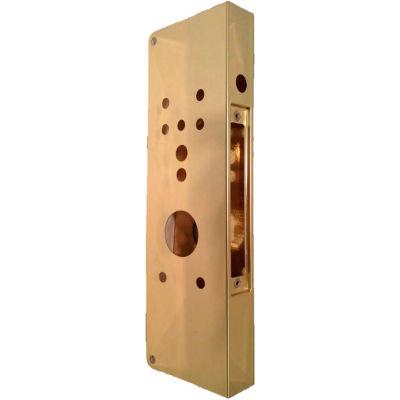Don Jo 504CO-PB-CW Wrap Around CO Lock, Polish Brass
