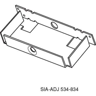 Don Jo 534 MWA Metal-Wood Stud Anchor, 5-3/4L, Steel - Pkg Qty 50