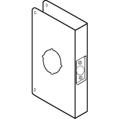 Don Jo 55-CW-S Wrap Around For Locks W/Extended Backsets, Stainless Steel