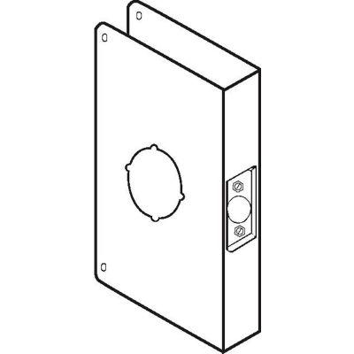 Don Jo 55A-CW-PB Wrap Around For Locks W/Converted Backsets, Polish Brass