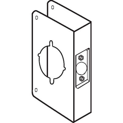 """Don Jo 5K-CW-S Wrap Around For Installing the Marks Levers, 2-3/4""""Backset, Stainless Steel"""