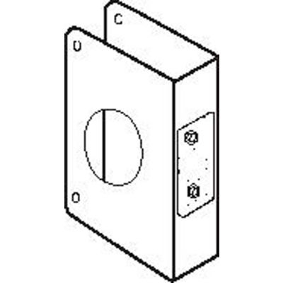 "Don Jo 6-CW-AB Wrap Around For Deadbolts W/ 1-1/2""Hole, 4""x4-1/2"", Antique Brass - Pkg Qty 10"