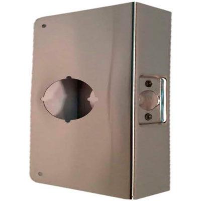 "Don Jo 61-CW-AB Wrap Around For Cylindrical Door Locks W/ 2-1/8""Hole, 4""x4-1/2"", Antique Brass - Pkg Qty 10"