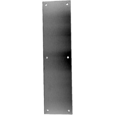 """Don Jo 69-630 .050 Push Plate, 3""""x12"""", Stainless Steel"""