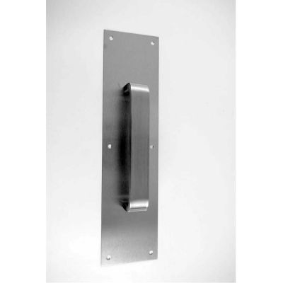 Don Jo 7030-628 Pull Plate W/Flat Pulls, 6-3/8, Aluminum