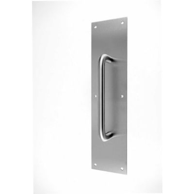 """Don Jo 7114-630 Pull Plate W/ 3/4""""Round Pulls, 4""""x16"""", 6-1/4"""", Stainless Steel"""