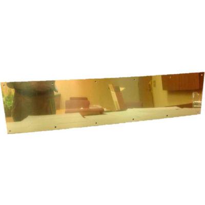 """Don Jo 90-10""""x28""""-605 Kick Plate, 3/64""""x28""""x10"""", Polish Brass"""