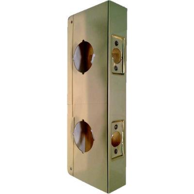 """Don Jo 943-CW-PB Wrap Around For Dbl Lock Combo Locksets W/ 2-1/8""""Holes W/4""""Centers, Polished Brass - Pkg Qty 10"""