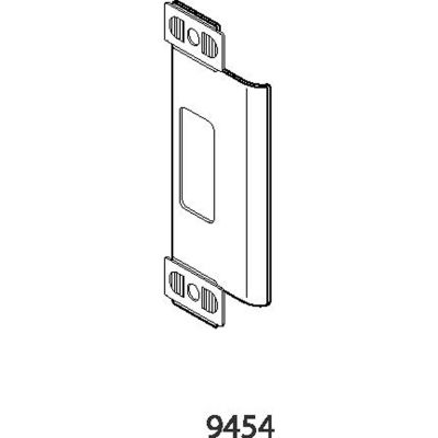 "Don Jo 9454-BP Adjustable Strike, 1-1/4""x4-7/8"", Brass Plated - Pkg Qty 10"