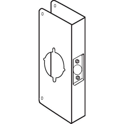 Don Jo 9K-CW-S Wrap Around For Installing the Best & Sargent Lever Locks, Stainless Steel