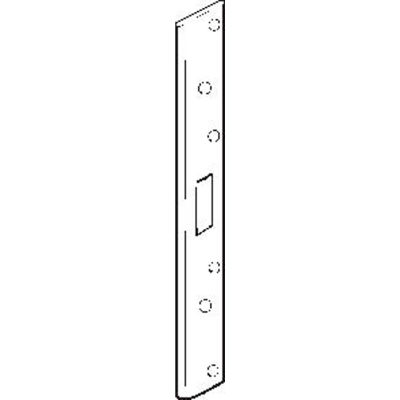 """Don Jo AST 2134M-WH Armor Strike, 18""""x1-3/4"""", Mortise Hole W/Universal Center Hole, White Plated - Pkg Qty 10"""