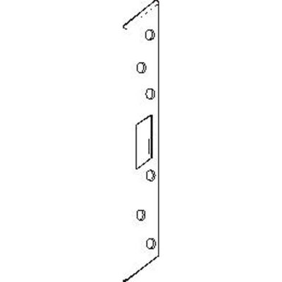 """Don Jo AST 21382-WH Armor Strike, 18""""x1-3/8"""", Dbl Hole For 3-5/8""""&4""""Centered Locksets, White Plated - Pkg Qty 10"""
