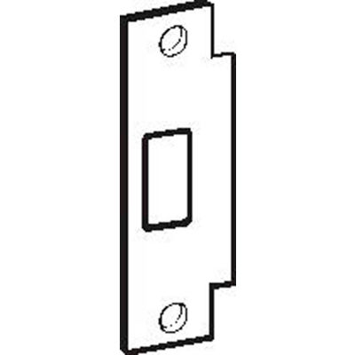 "Don Jo BFD-2-SL, ANSI Strike Deadbolt For Hollow Metal Frame, 4-7/8""x1-1/4"", Silver Coated - Pkg Qty 10"
