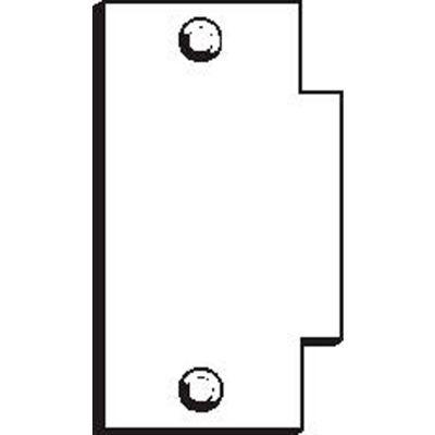 "Don Jo BTS 160-CP Filler Plate, 2-3/4""x1-3/8"", Chrome Plated - Pkg Qty 10"