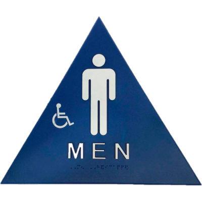 Don Jo CHS 1 Men's Restroom Sign, BL - Pkg Qty 10
