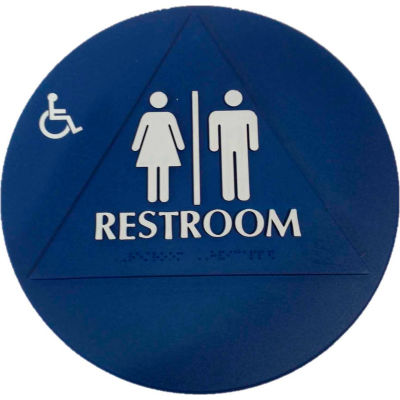 Don Jo CHS 3 Restroom Sign, BL - Pkg Qty 10