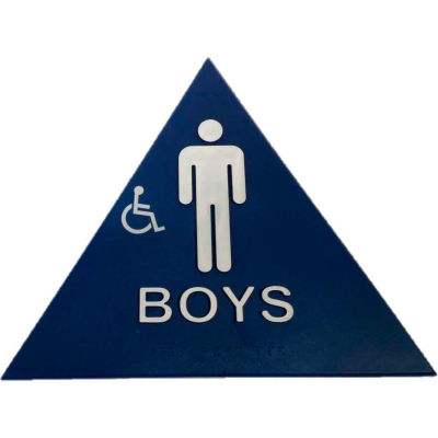 Don Jo CHS 4 Boy's Restroom Sign, BL - Pkg Qty 10