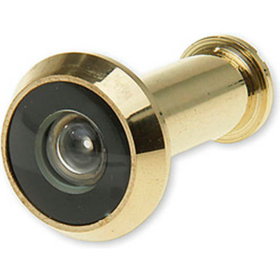 "Don Jo DV 180-605 Door Viewer, 180°, 9/16""Installation Hole, Polish Brass - Pkg Qty 10"