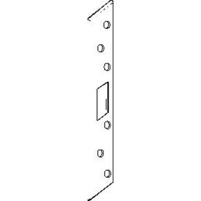 "Don Jo FL 208WM-WH Armor Strike, 8""x1-3/4"", Mortise Hole W/Universal Center Hole, White Coated - Pkg Qty 10"
