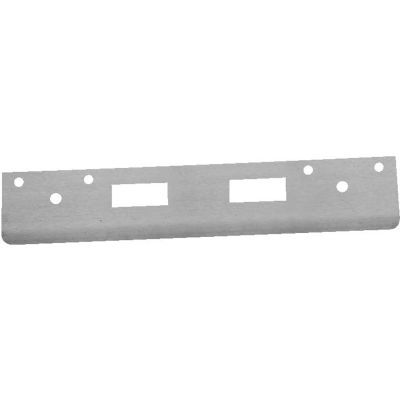 "Don Jo FL 212N4-WH Armor Strike, 12""x1-3/8"", Dbl Hole For 3-5/8""&4""Centered Locksets, White Coated - Pkg Qty 10"