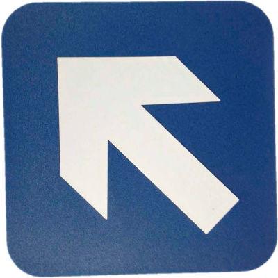 "Don Jo HS 9070 36 - Diagonal Arrow ADA Sign, 6"" x 6"", Blue With Raised White Lettering - Pkg Qty 10"