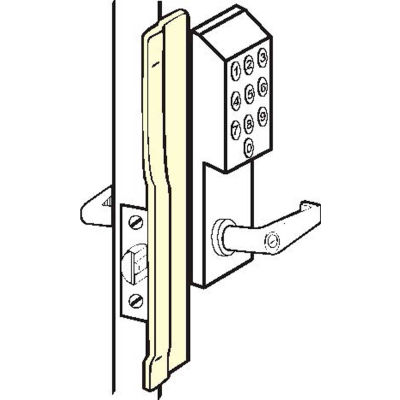"""Don Jo KLP 110 LHR-630 Left Hand Reverse Latch Protector For Electronic Lks, 1-1/2""""x10"""", SS - Pkg Qty 10"""