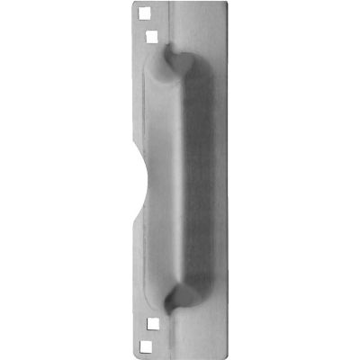 """Don Jo LP 111 EBF-630 Latch Protector For Outswing Doors, 3""""x11"""", Fasteners, Stainless Steel - Pkg Qty 10"""