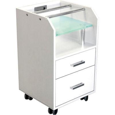 AYC Group Glasglow Salon Pedicure Trolley - White