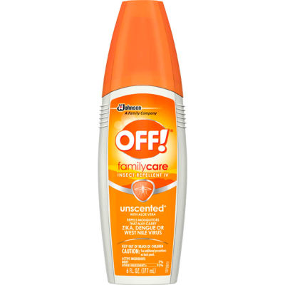 OFF® FamilyCare Insect Repellent, 7% DEET, 6 oz. Pump Spray, 12 Bottles - 654458