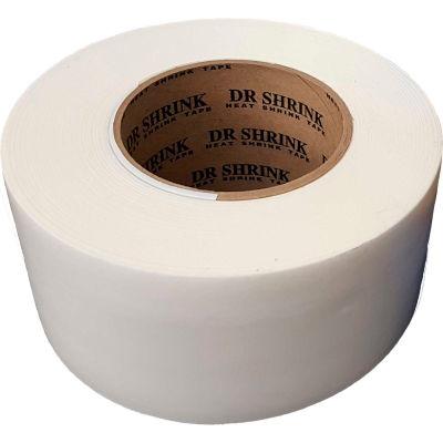 "Dr. Shrink Heat Shrink Tape 3""W x 180'L 9 Mil White - Pkg Qty 16"