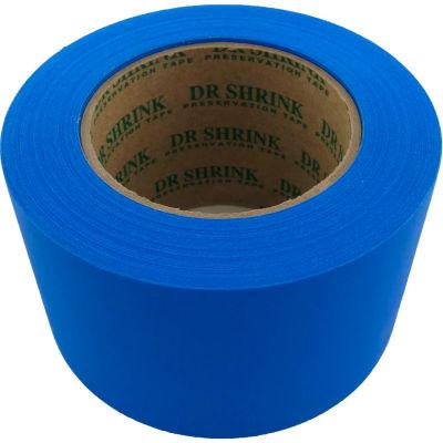 """Dr. Shrink Preservation Tape 3""""W x 108'L 10 Mil Blue - Pkg Qty 16"""