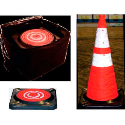 """Dicke Safety 28"""" Collapsible Cone with Storage Bag, 5/PK, CC5B"""