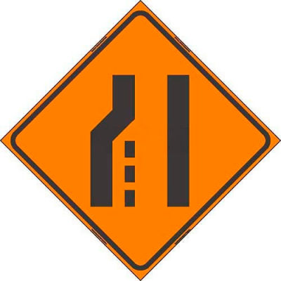 """Dicke Safety Reflective Roll-Up Sign, 48"""" x 48"""", TRANSITION RIGHT SYMBOL, RUR48-200 TRS"""