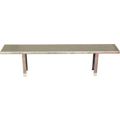 """DC Tech Stainless Steel Bench BH101002 - Steel Top & Pedestals 72""""W x 12""""D x 18""""H"""