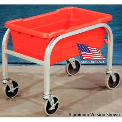 "DC Tech Single Tote Cart DL101044, Fully Welded, Stainless Steel , 28-1/2""L x 15-1/4""W x 16""H"