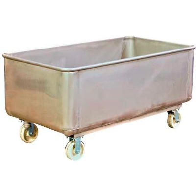 DC Tech Stainless Steel Bulk Truck with Drain and Cap TKS11001 1100 Lb. Capacity