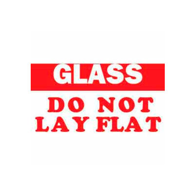 "Glass-Do Not Lay Flat 3"" x 5"" - White / Red"