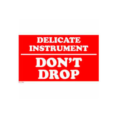 "Delicate Instrument Don't Drop 3"" x 5"" - White / Red"
