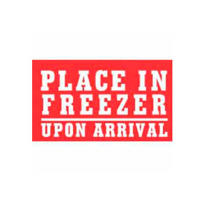 """Place In Freezer Upon Arrival 3"""" x 5"""" - White / Red"""