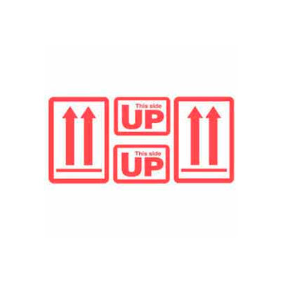 """This Side Up 5"""" x 9"""" - White / Red"""