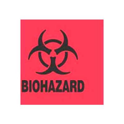 """Biohazard 2"""" x 2"""" - Fluorescent Red / Black"""