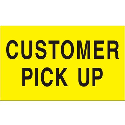 "Customer Pick Up 3"" x 5"" - Bright Yellow / Black"