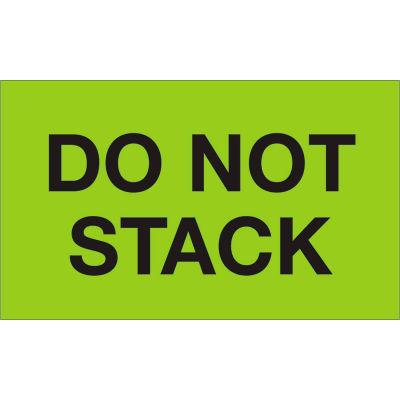 "Do Not Stack 3"" x 5"" - Fluorescent Green / Black"