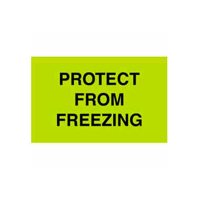 "Protect From Freezing 3"" x 5"" - Fluorescent Green / Black"